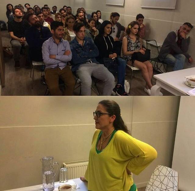Tümay Özokur ile birlikte harika bir seminer geçirdik.. Dünden bugüne tüm tecrübelerini genç yeteneklerle paylaştı..