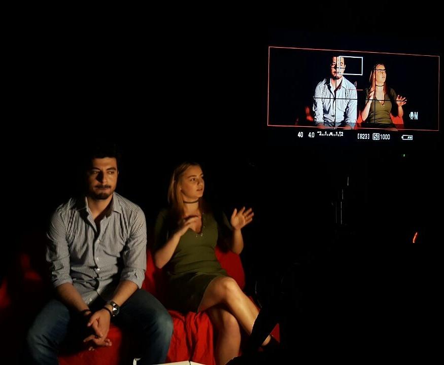 Atölye'de çekim var! Oyuncu Koçumuz Ayşegül Baydar ve Yönetmen Kenan Doğru eşliğinde gerçekleşen çekimlerimiz devam ediyor..