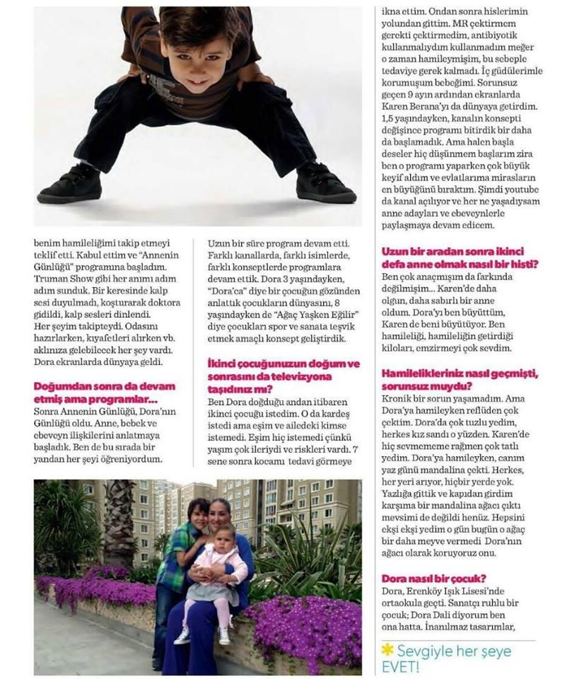 """"""" Çok anaçmışım da farkında değilmişim.. """" Tümay Özokur, oğlu Dora ve kızı Karen Berana ile Parents dergisi Eylül sayısında!"""